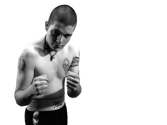 Black and White photograph by Dan Treado from the series 'All My Friends Are Prizefighters'